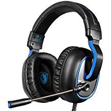 SADES SA-R4 Gaming Headset 3.5mm Wired Over-ear Headphones with Mic Noise Isolating Volume Control for PC Mac Xbox One PS4 -Black
