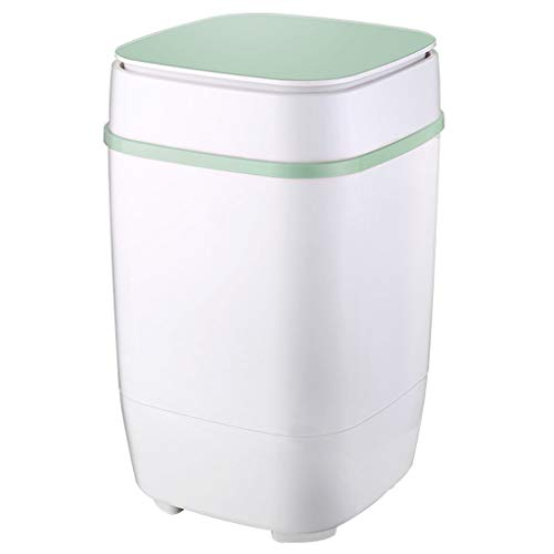 Mini Washing Machine – Small Semi-Automatic Compact Washing Machine for Camping, Apartments, Or Student Dorm Room 360590 MM(Green)