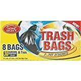 Powerhouse 8 Count 30 Gallon Trash Bag - Smart Savers