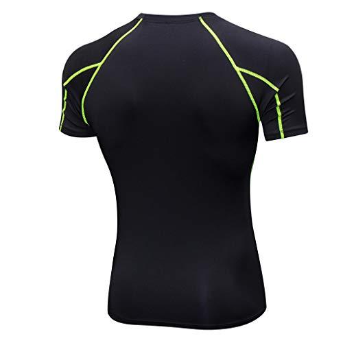 Tops Sports Fitness Blouse T Séchage Tenue Workout shirt Homme De Rapide Sport Vert Sportswear Amlaiworld 8HR0qwYR