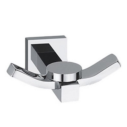 Lightinthebox Wall Mount Bathroom Accessories, Coat Hook Towel/Robe Clothes Hook for Bath Kitchen Garage Heavy Duty Contemporary Square Style Wall Mounted, Solid Brass Silver,Chrome Finish