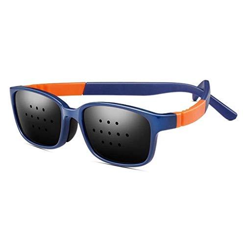 Unisex Eyesight Vision Care Vision Improve Pinhole Glasses Eyes Exercise Fashion Natural (Color : Blue)