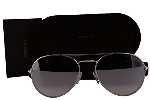 Tom Ford FT0551 Ace-02 Sunglasses Rhodium Shiny Silver w/Violet Gradient Mirror Lens 18Z TF551 FT551/S - Tom Ace Ford