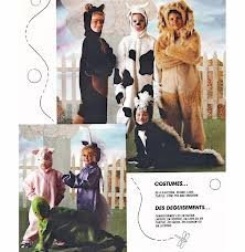 (McCall's Children's Costumes Pattern 3940 ~ Raccoon, Skunk, Lion, Turtle, Unicorn, Pig, Cow ~ Size Medium)