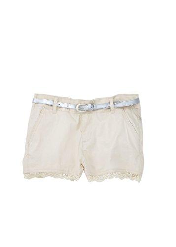 Glamour Belted Belt ([A334054-KHK-6] Chilipop Shorts for Girls, Belted, Stretch Poplin, Lace Trim,)