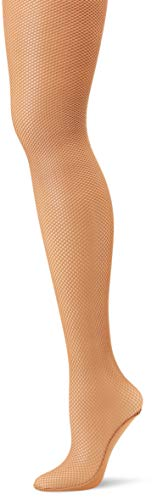 Capezio Women's Professional Fishnet Seamless Tight, Suntan, Medium/Tall