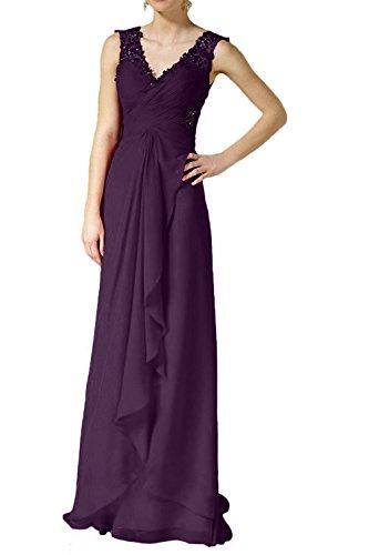 Bodelang Formal Festlichkleider mia Abendkleider Ballkleider Abschlussballkleider Spitze mit Rot Braut Traube La Elegant Bodenlang wgYxq0v0