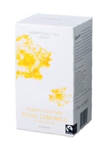 Hampstead Tea Organic Fairtrade, Royal Camomile Tea, 20-Count Sachets (Pack of 3)