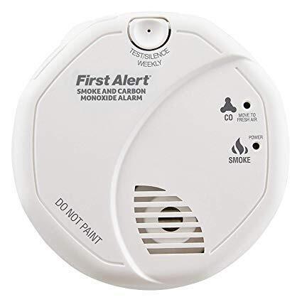 Frist Alert - Detector de humo y monóxido de carbono a pilas para uso en espacios
