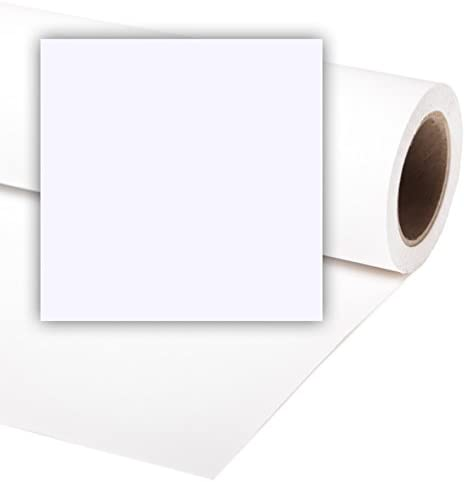 PRL BD FONDALE 0,72 x11 mt BIANCO CARTA PAPER WHITE BACKGROUND PHOTO FOTO