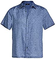 Theory Men's Irving Short Sleeve Linen Shirt