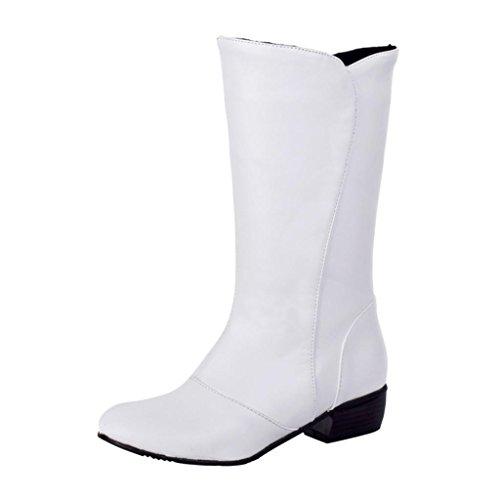Hee Grand Damen Maedchen Elegante Schuhe Sexy Stiefel Weiß