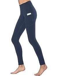 Women's High Waist Yoga Pants with Side & Inner Pockets...
