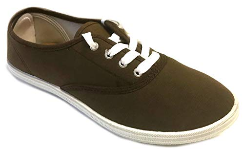 Shoes 18 Womens Canvas Shoes Lace up Sneakers 324 Brown 9