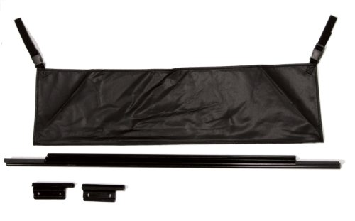 Tj Jeep 2002 (RAMPAGE PRODUCTS 77015 Rear Tailgate Tonneau Bar Kit for 1987-2006 Jeep Wrangler YJ & TJ, Black)