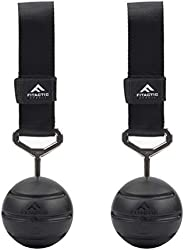 FITactic Rock Climbing Solid Training Cannonball Bomb Pull Up Power Ball Hold Grips with Straps for Finger, Fo