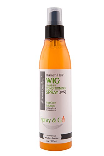 Wig Spray - Awesome Human Hair Wig Leave-In Conditioning Spray, ph5, Spray and Go, 7 oz