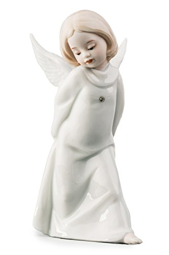 Walking Little Baby Angel Cherub Porcelain Figurine Statuette Figure Christmas Collectibles (Ceramic Cherub)