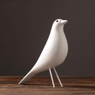 VietFA Animals - The Mid Century Bird Figurine House Bird Animal Statue Dove of Peace European Mascot Bar Coffee Decor - by GTIN - 1 Pcs - Ceramic Elephants Figurines
