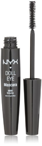NYX Doll Mascara Eye, Extreme Black, Volume, DE02