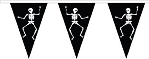 Halloween Skeleton Superior Material String Flags / Bunting 10m (33') Long With 24 Flags