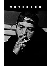 """Post Malone Notebook Gift /Journal Great for Birthday or Christmas Gift: Perfect for taking notes , Sketching Soft Matte Cover and 110 Premium Paper/Pages, 6"""" x 9"""" inches"""