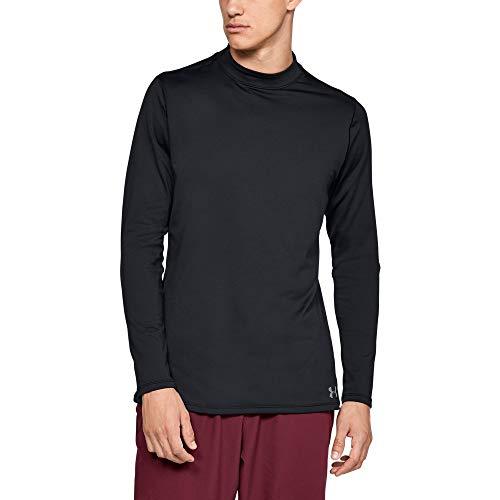 Under Armour Men's ColdGear Armour Compression Mock Long Sleeve Shirt, Black (001)/Steel, 3X-Large