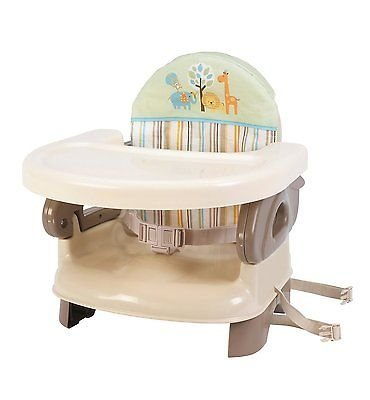 Summer Infant Deluxe Comfort Booster Seat, Folding High Chair, New - Platinum Mobile Square
