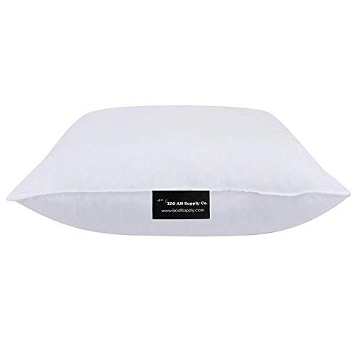 Bed Pillows Great Couch Pillows Floor Pillows IZO All Supply Premium Hypoallergenic Polyester Decorative Pillows High Loft Throw Pillows 12x20 Pillow Inserts