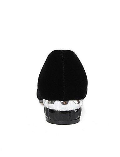 GGX/ Damen-High Heels-Lässig-Kunststoff-Niedriger Absatz-Geschlossene Zehe-Schwarz black-us6 / eu36 / uk4 / cn36