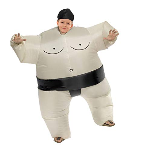 AOGU Inflatable Sumo Wrestler Wrestling Costume Halloween Costume for Child Inflatable Costumes Cosplay -