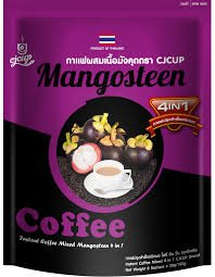 Mangosteen Coffee Instant Coffee Mixed 4 in 1 with Mangosteen Healthy Coffee 160g. ( Pack of 2 )