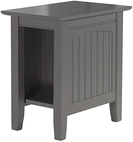 Leo Lacey Chair Side Table in Grey