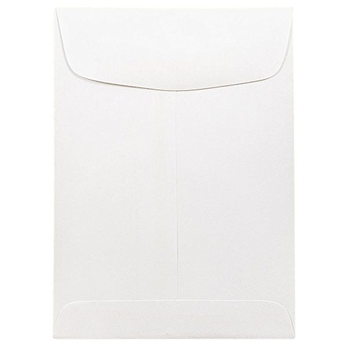(JAM PAPER 5 1/2 x 7 1/2 Open End Catalog Commercial Envelopes - White - 50/Pack)