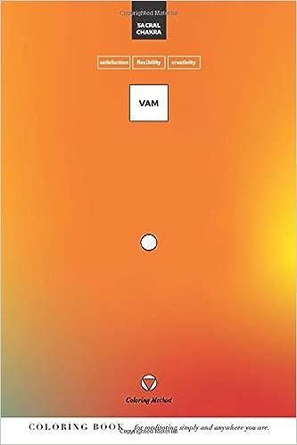 Vam: Sacral Chakra (The Coloring Method) (Chakra Yoga ...
