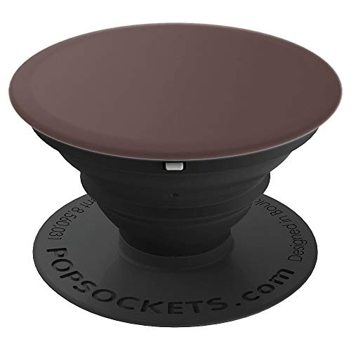Aged Chocolate - Simple Neutral Solid Color - PopSockets Grip and Stand for Phones and Tablets