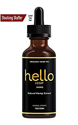 Organic Hemp Oil Extract - Pure Hemp Oil for Pain Relief - Great Sleep Herbal Supplements - 300 MG - Zero THC