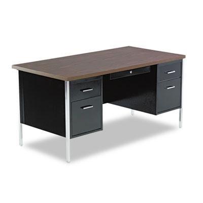 Alera - Double Pedestal Steel Desk Metal Desk 60W X 30D X 29