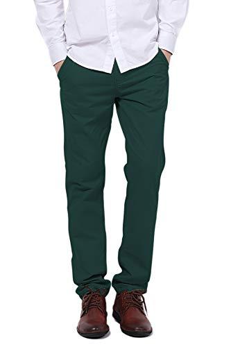 Pau1Hami1ton Men's Slim Tapered Casual Chino Pants - PH-03(36, GreenBlue)]()