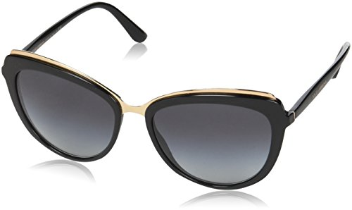 Dolce & Gabbana Women's Acetate Woman Cateye Sunglasses, Black, 57.0 - Dolce Sunglasses & Gabbana