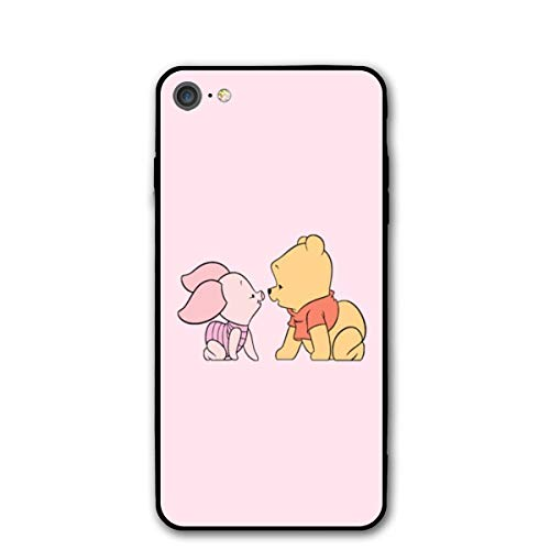 SWDFFG iPhone 7/8 Case- Stylish Winnie The Pooh and Piglet PC Slim Shockproof Flexible Back Protective Case for iPhone 7/8 ()