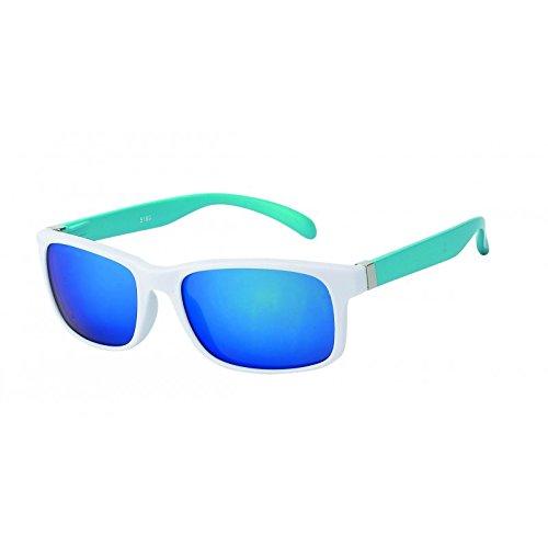 Chic-Net Sonnenbrille Herren verspiegelt 400 UV breit schmal Scharnier bunt Bügel gelb 01RCY4