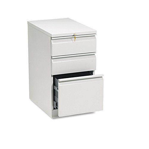 - HON 33723RQ Efficiencies Mobile Pedestal File w/One File/Two Box Drwrs, 22-7/8d, Lt Gray