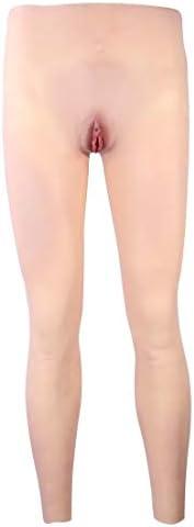 シリコンパンツ 女装 長い脚の足のズボン 男性用 セクシー下着 性転換 美尻メイク 変装 変性 男の娘 仮装 偽娘 偽膣付き セ