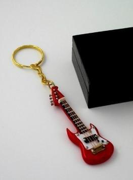 REGALOS LLUNA Llavero Miniatura Musical (Llavero Guitarra ELECTRICA ROJA)