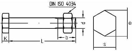 Reidl Sechskantschrauben mit Mutter 10 x 100 mm DIN 601 4.6 galv verzinkt farblos 1 St/ück