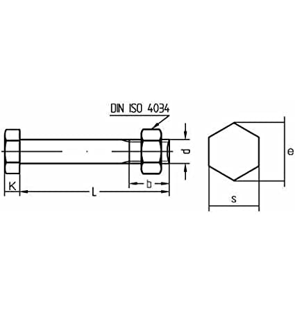 Reidl Sechskantschrauben mit Mutter 8 x 30 mm DIN 601 4.6 galv verzinkt farblos 50 St/ück