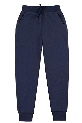 ALove Child Knit Pants Little Boys Cotton Jogger Pull on Elastic Sweatpants Navy 5T by ALove