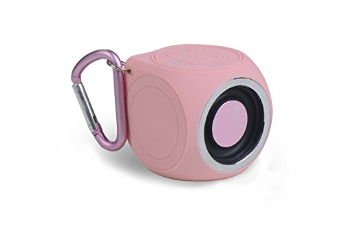 Price comparison product image TETRA Waterproof Speaker - SoundWave Mini. Ultra Portable. Shower. POWERFUL 3W SOUND. Built-in Microphone. 100-Foot Bluetooth Wireless Range. Integrated Buttons. Weighs Only 2.6oz! NEW PRODUCT! (Pink)
