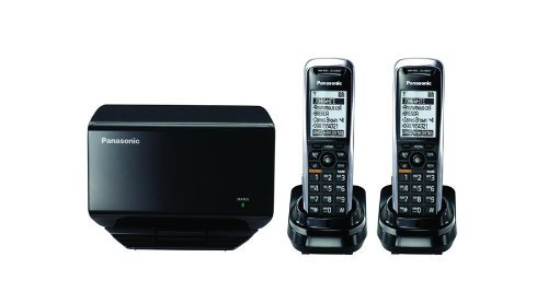 PANASONIC KX-TGP500B04-BL1 TGP500 SIP DECT Phone Cordless Base Bundled with 2 Handsets